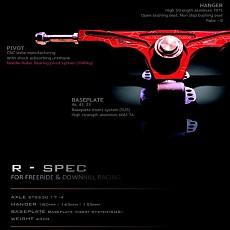 Downhill,Freeride(R-SPEC)(46˚, 43˚, 23˚) HANGER180mm,165mm,155mm 기본구성품 Precision STS 304 Washer ,진동쿠션 ,(부싱미포함)