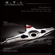 Downhill(B.T.L)(46˚, 43˚(23˚)HANGER180mm,155mm,125mm 기본구성품 Precision STS 304 Washer ,진동쿠션 ,(부싱미포함)