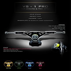 VS-1 jong-bin JO PRO MODEL . Dancing&Freestyle . BLACKTOP PRECISION TRUCK(50˚) 헹어176mm (부싱 미포함). 370g 경량화.